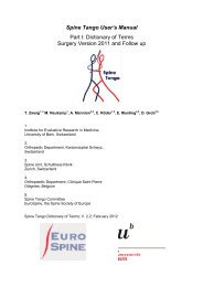 Spine Tango User's Manual - The Spine Society of Europe