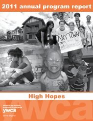 2011 annual program report High Hopes - YWCA Central Alabama