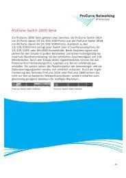 Procurve Switch 2800 Serie