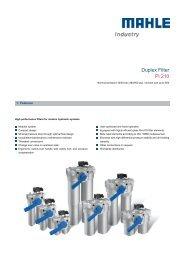 Duplex Filter Pi 210 - MAHLE Industry