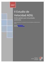 II Estudio de Velocidad ADSL - ADSL Zone