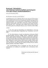 Kantonale Volksinitiative zum Erhalt der ... - Kanton Zürich