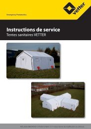 Instructions de service - Vetter GmbH