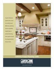 Cabinetry Project Planning Guide - Canyon Creek Cabinet Company
