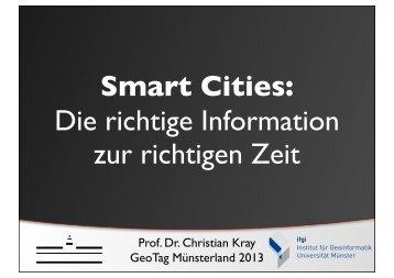 Prof. Dr. Christian Kray, IfGI, Uni Münster - Geonetzwerk Münsterland