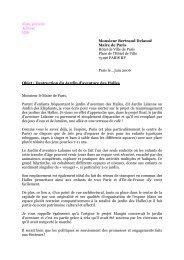 Nom, prénom Adresse Ville Monsieur Bertrand Delanoë Maire de ...