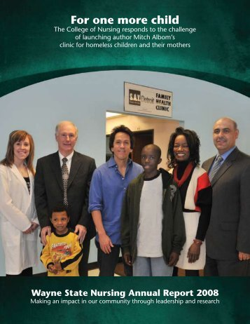 2008 Annual Report - College of Nursing - Wayne State University
