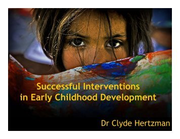 Successful Interventions in Early Childhood ... - Onehealth.ca