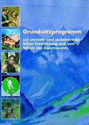Grundsatzprogramm zu Entwicklung und Schutz des Alpenraumes