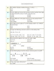 Q. 1 The number of prime numbers between 1 to 20 is