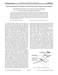 Detection and Quantized Conductance of Neutral Atoms Near a ...