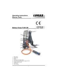 Operating Instructions Rescue Tools Battery Pump P 600 OB