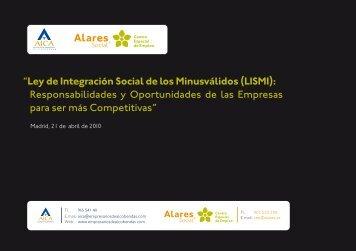 """""""Ley de Integración Social de los Minusválidos (LISMI ... - Alares"""