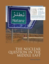 the nuclear question in the middle east - Georgetown University