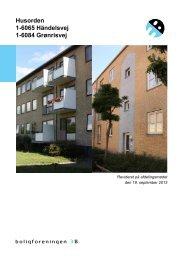 Husorden 1-6065 Händelsvej 1-6084 Grønrisvej - Boligforeningen 3B