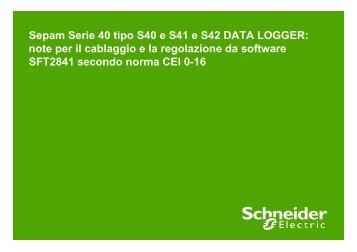Regolazione Sepam S40, S41 e S42 Data ... - Schneider Electric