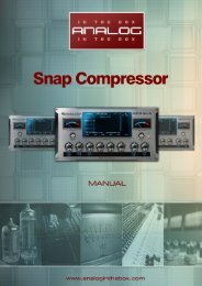 Snap Compressor Manual - Analog In The Box