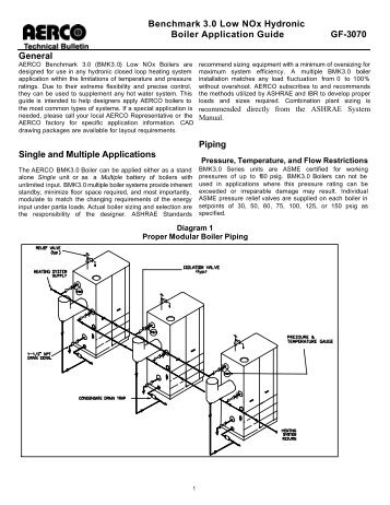 Benchmark Boiler Gas Train Guide Industrial Heater
