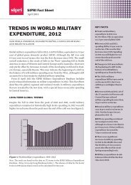 Trends in world military expenditure, SIPRI Fact Sheet - Publications ...
