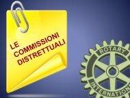 commissioni distrettuali pdf - Rotary International Distretto 2060