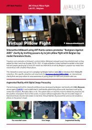 AVT: JBC Virtual Pillow Fight - Data Vision