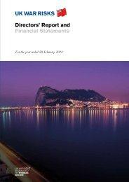 Directors' Report and Financial Statements - UK War Risks