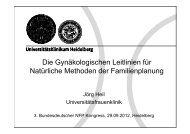 Die Gynäkologischen Leitlinien für Natürliche Methoden der ...