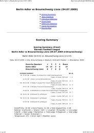 Berlin Adler vs Braunschweig Lions (04.07.2009 ... - Newyorker Lions
