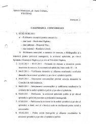 Calendarul concursului - Spitalul Municipal Fagaras