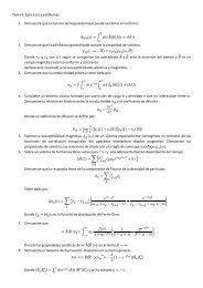 Tema 4. Ejercicios y problemas. 1. Demuestre que la función de ...