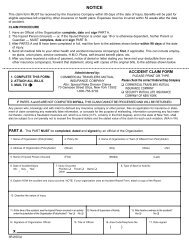 Claim Form - Risk Management
