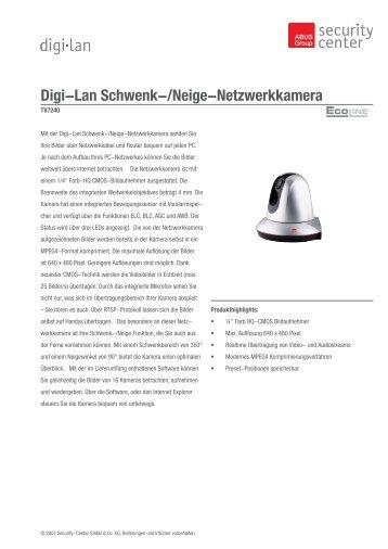 Digi-Lan Schwenk-/Neige-Netzwerkkamera - Repro Schicker AG