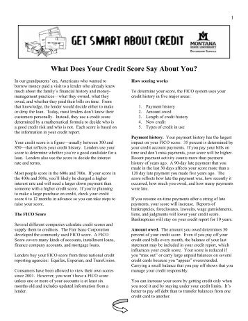 What Does Your Credit Score Say About You? - Get Smart About ...