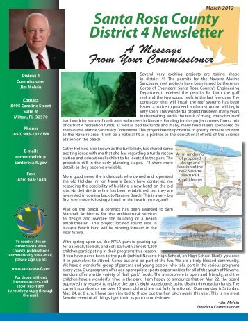 District 4 March 2012 Newsletter - Santa Rosa County