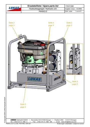 Ersatzteilliste / Spare parts list - Vetter GmbH