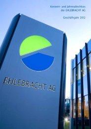 Konzern- und Jahresabschluss der EHLEBRACHT AG ...