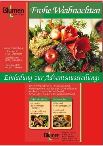 Einladung zur Adventsausstellung!