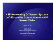 NSF Networking Of Sensor Systems (NOSS) - Earth Science ...