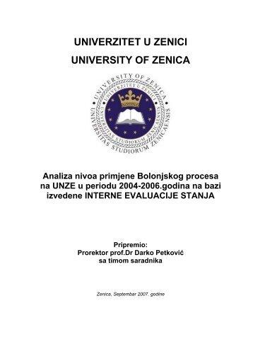 kompletan tekst u pdf formatu, 588 kB - Univerzitet u Zenici