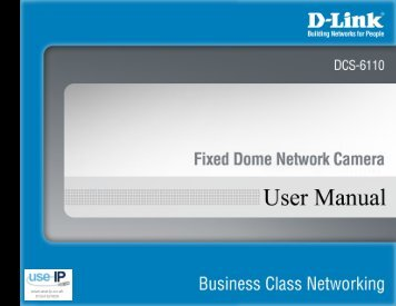 D-Link DCS-6110 Fixed Dome Network Camera - Use-IP