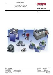 Operating instructions for hydraulic systems - Bosch Rexroth