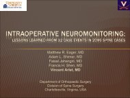 Intraoperative Neuromonitoring: Lessons Learned from 32 Case ...