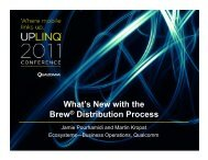 What's New with the Brew® Distribution Process - Uplinq