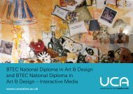 BTEC National Diploma in Art & Design and - University for the ...
