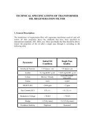 technical specifications of transformer oil regeneration filter