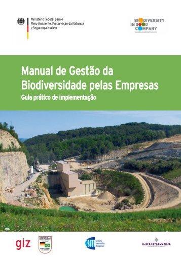 Manual de Gestão da Biodiversidade pelas Empresas
