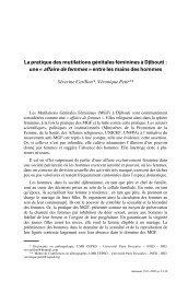 La pratique des mutilations génitales féminines ... - Intact-network.net