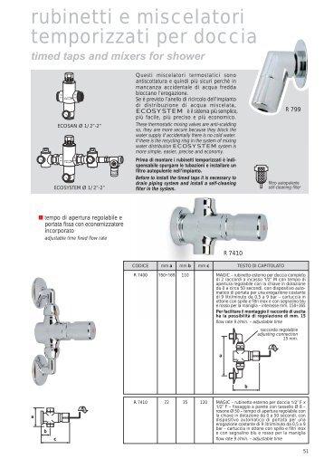 rubinetti e miscelatori temporizzati per doccia - River SPA