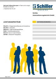 Prospekt Software Engineering Produkte - schiller-gruppe.de