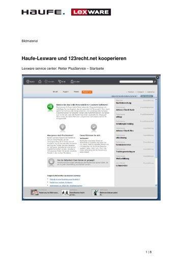 Bildmaterial Haufe-Lexware Kooperation 123recht net